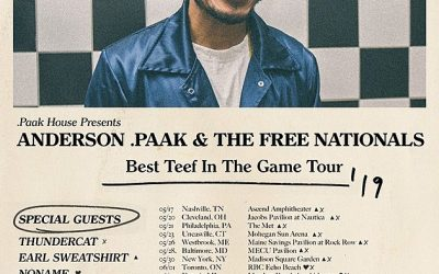 Anderson Announces Tour With Free Nationals  Thundercat dates, Mac DeMarco, Earl Sweatshirt, Noname, & Jessie Reyez