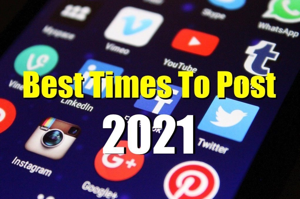 The Best Times For Your Social Media Post In 2021. Best days, times, most interactions, and number of times.